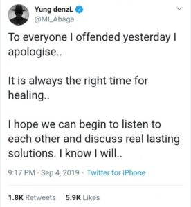 """I Have Been Insulted And Threatened So Much"" – MI Apologizes For Supporting AKA"